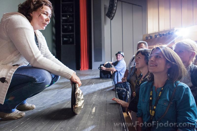 Svetlana Petrova after her lecton while Art Camp 2013